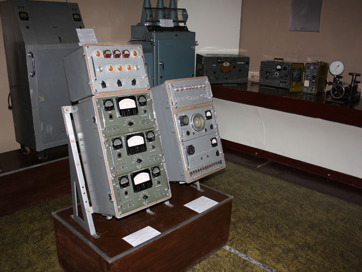 Equipment used to measure the power of atomic bomb explosions at the Semipalatinsk test site