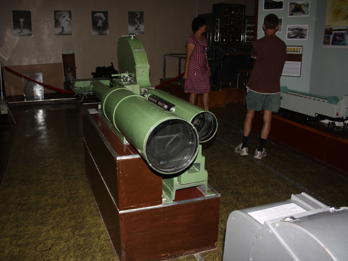 Powerful lenses used to film the detonation of Atomic bombs at the Semipalatinsk test site