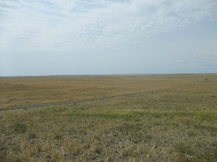 The most striking aspects of the Kazakh steps is its endlessness, hundreds of miles of empty land