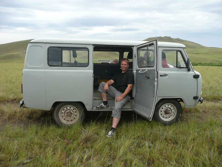 The UAZ-452 Tabletka 4x4 that took us trough the Steppes