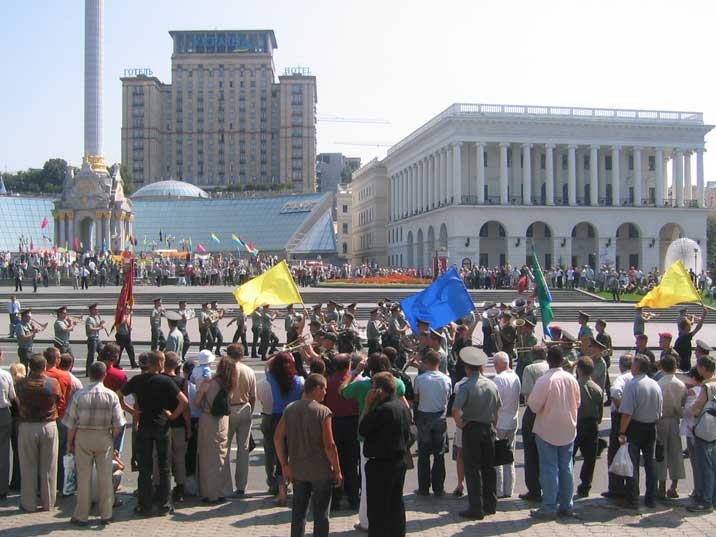 Parade of the Ukrainian army on Kiev Independence Square