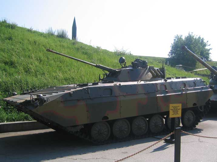BMP-2, infantry combat vehicle, developed in the eighties