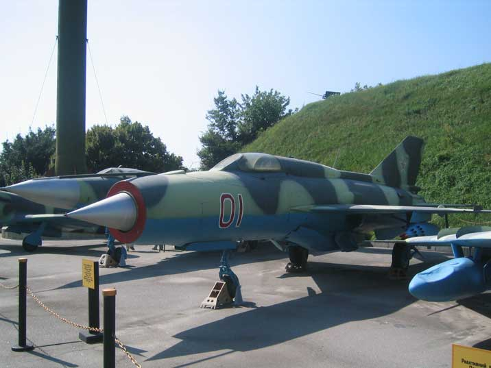 Mikoyan-Gurevich MiG-21, NATO name Fishbed flown by 50 countries