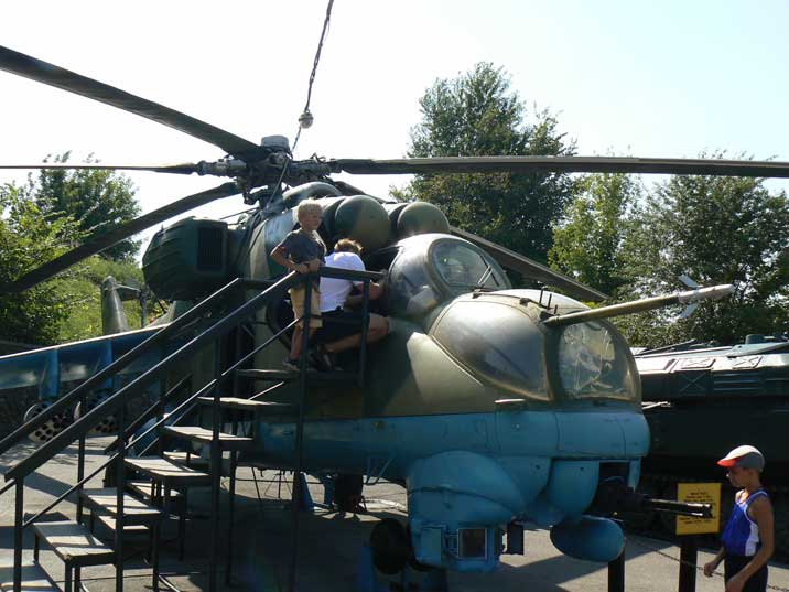 The Mil Mi-24 gunship became famous during the Afghanistan war