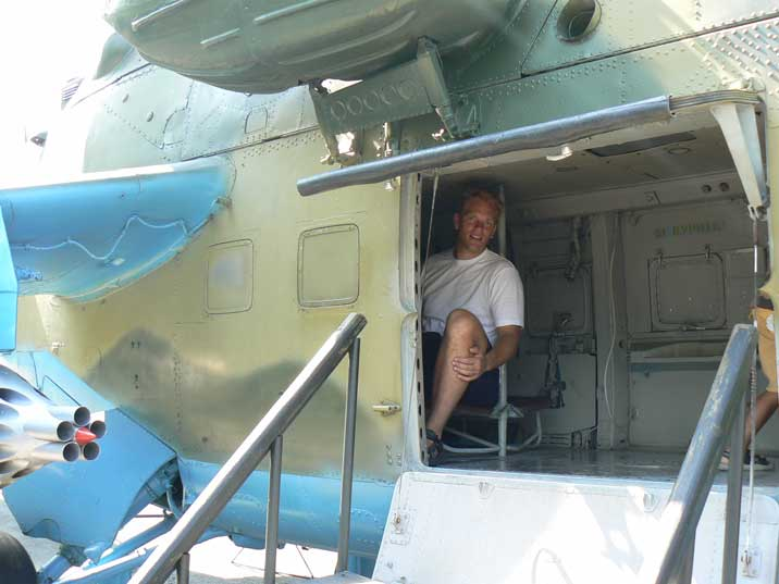 Mil Mi-24 helicopter infantry compartment for eight troops