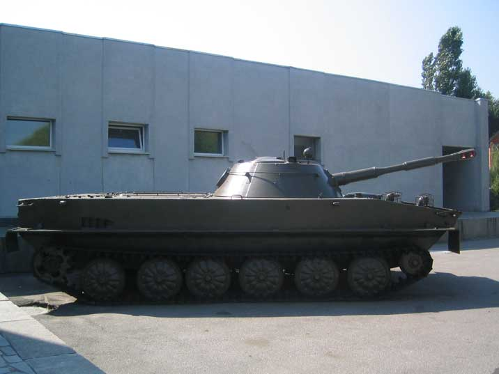 Soviet light amphibious tank PT-76 used for reconnaissance