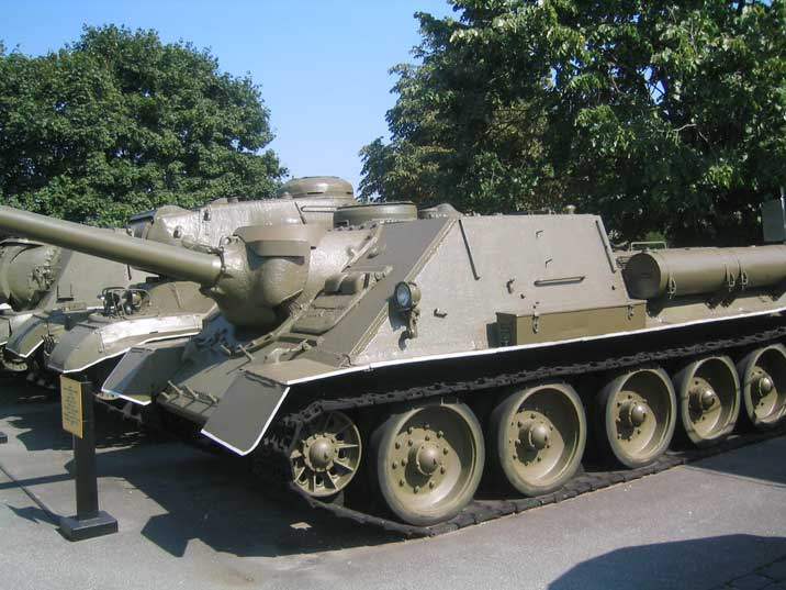 Soviet World War II Tank Destroyer SU-100 at the Kiev War Museum
