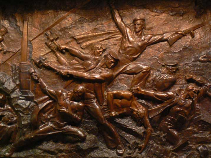 Soviet wall sculpture depicting the heroic defence of Sevastopol