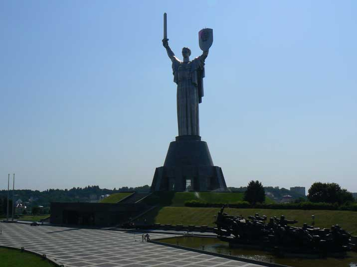 Great Patriotic War memorial complex with Motherland monument
