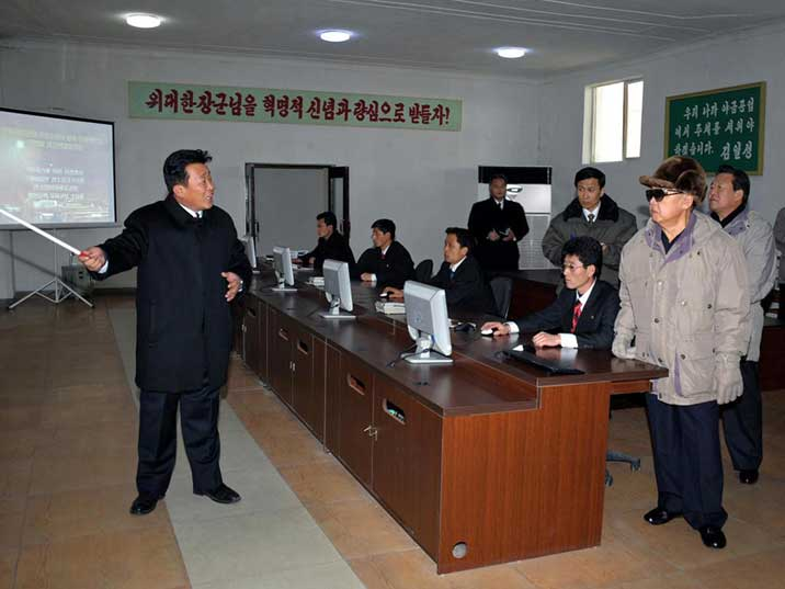Kim Jong Il inspects the Hwanghae Iron and Steel complex