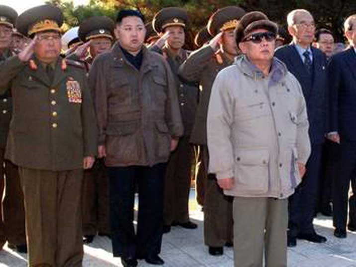 Kim Jong Il probably paying honours to his father Kim Il Sung
