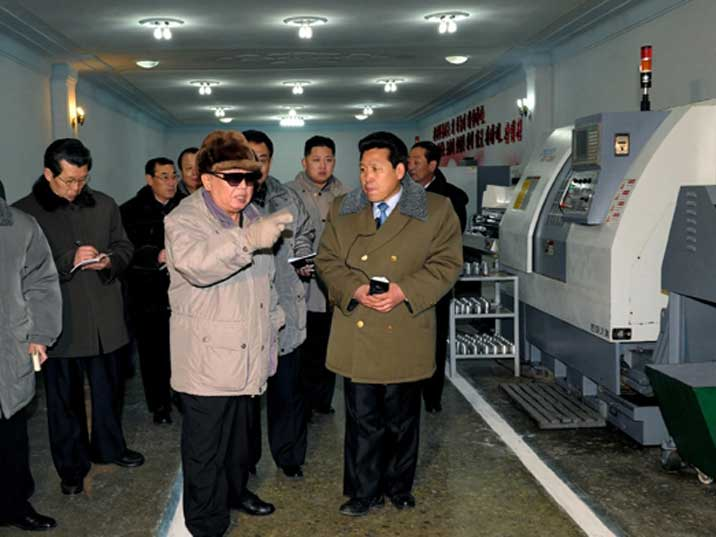 Kim Jong Il in the Amnokgang Gauge and Instrument General Factory