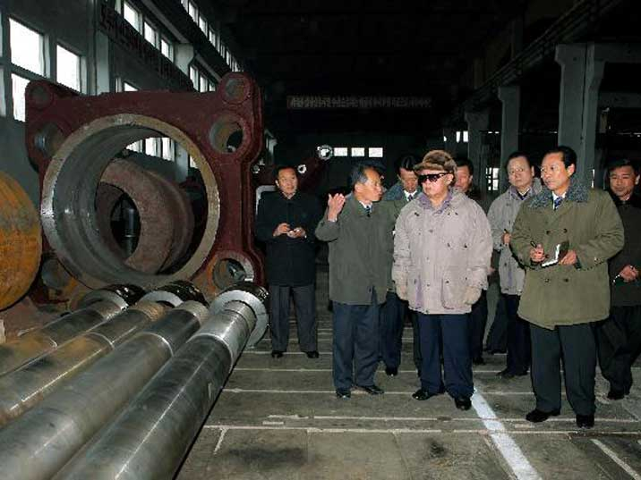 Kim Jong Il inspects the Kim Chaek Iron and Steel Complex