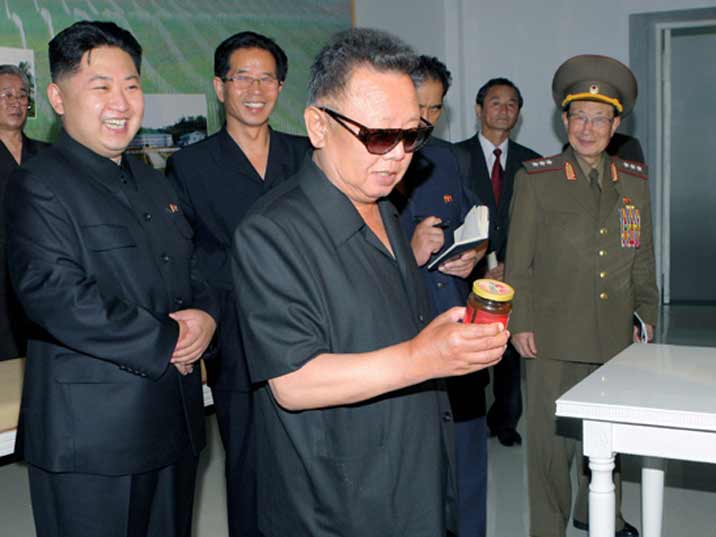 Kim Jong Il providing Field Guidance to Work in Field of Light Industry