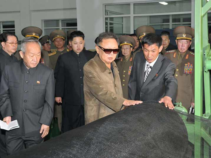 Kim Jong Il looking at a role for agricultural purpose