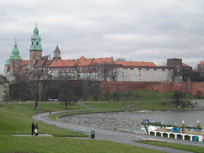 The Wawel castle in Krakow was build on a Hill near the Vistula river by the Polish King Casimir III the Great