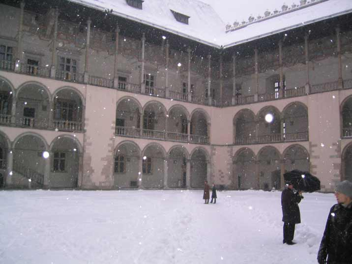 The beautiful 16th century Renaissance inner courtyard is the absolute highlight of Krakow's Wawel castle