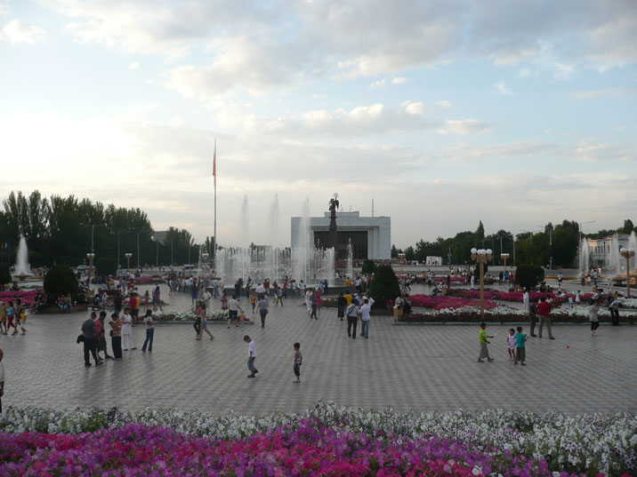 Ala-Too Square is the central square in Bishkek, built in 1984 to celebrate the 60th anniversary of the Kyrgyz SSR
