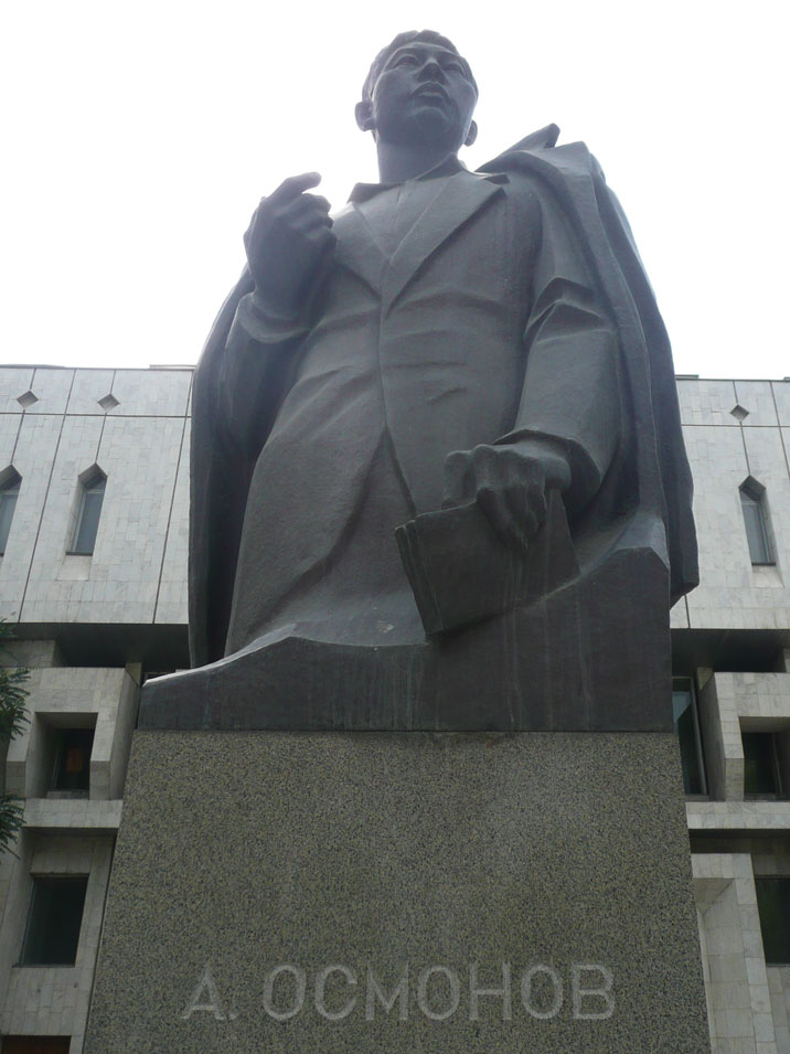 Post Soviet monument to national poet Alykul Osmonov