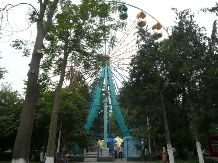 Soviet era Ferris wheel that can still be seen in many parks and fair grounds in former Soviet countries