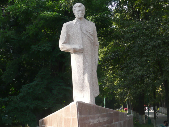 Post Soviet monument to Ibraimov Jumabek, former mayor of Bishkek and prime minister of Kyrgyzstan from 1998 to 1999