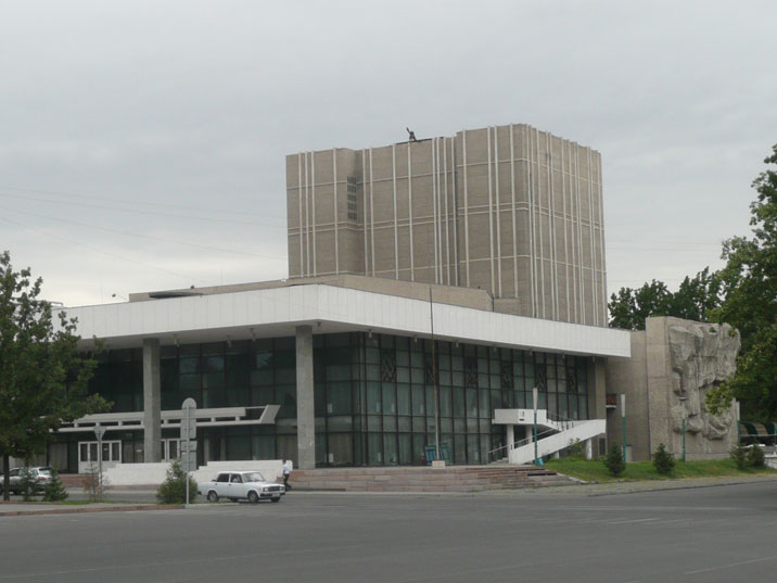 The building of the Kyrgyz National Drama Theater was constructed in 1970 and has 800 seats