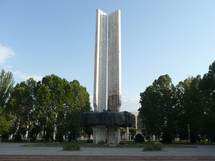 People's Friendship Monument in honor of the 100th anniversary of Kyrgyzstan's entry to Russia, constructed in 1974