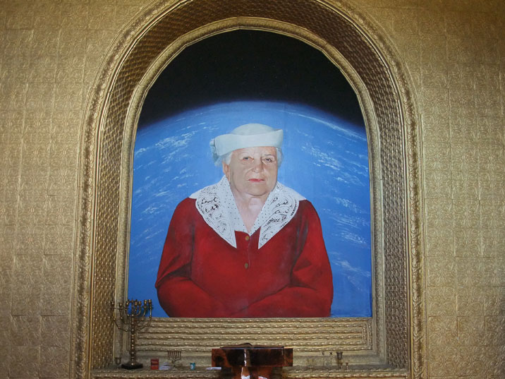 Painting of Golda Meir, the Kiev born fourth Prime Minister of Israel known as the Iron Lady before Margaret Thatcher