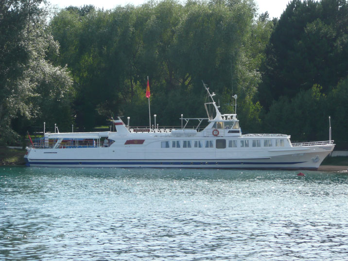 Passenger ship Moscow, used for site seeing on Lake Issyk Kul