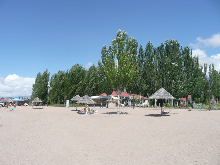 There are many modern beach resorts at Lake Issyk Kul, mainly catering to Russian and Kazakh tourists