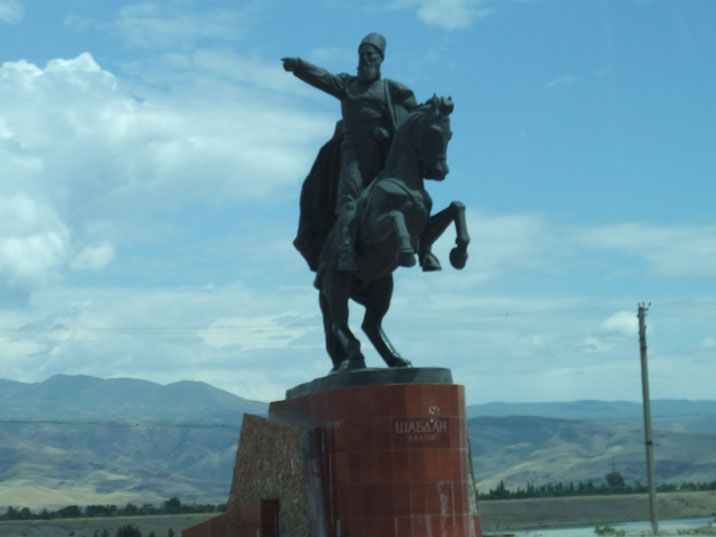 Monument of Kyrgyz hero Shabdan Batyr, who though the Russian oppression during the 19th century