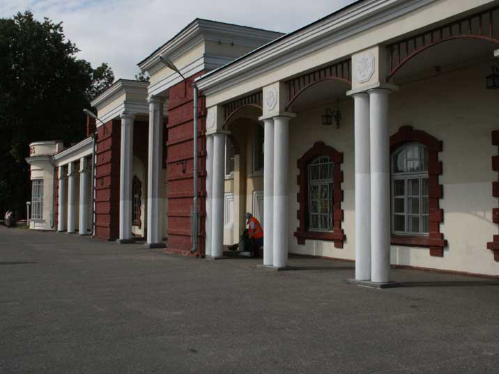 Building of the Soviet era Cesis Railways Station in Latvia