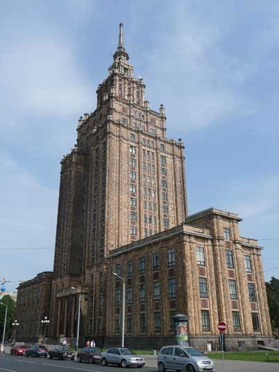 Latvian Academy of Sciences, a Stalinist wedding-cake building