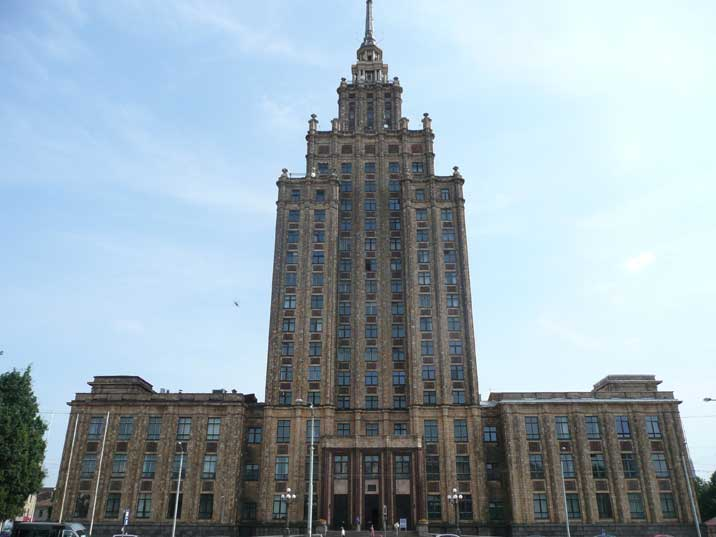 Similar Stalinist buildings can be found in Moscow and Warsaw