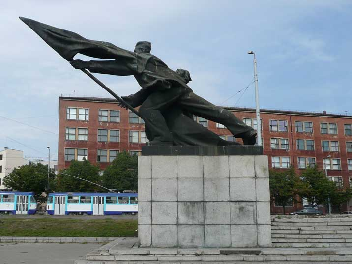 1962 monument for Latvian fighters of the 1905 revolution
