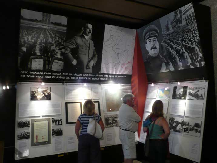 The Latvian Occupation Museum about the Soviet - Nazi pact in 1939