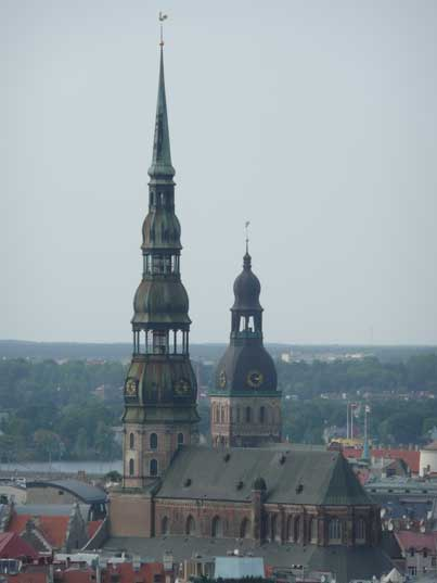 The tower of the St. Peters Church in Riga first mention in 1209