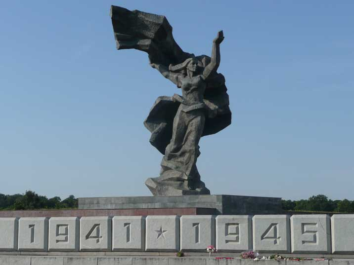 1941 -1945 commemorating the victory memorial to Soviet army