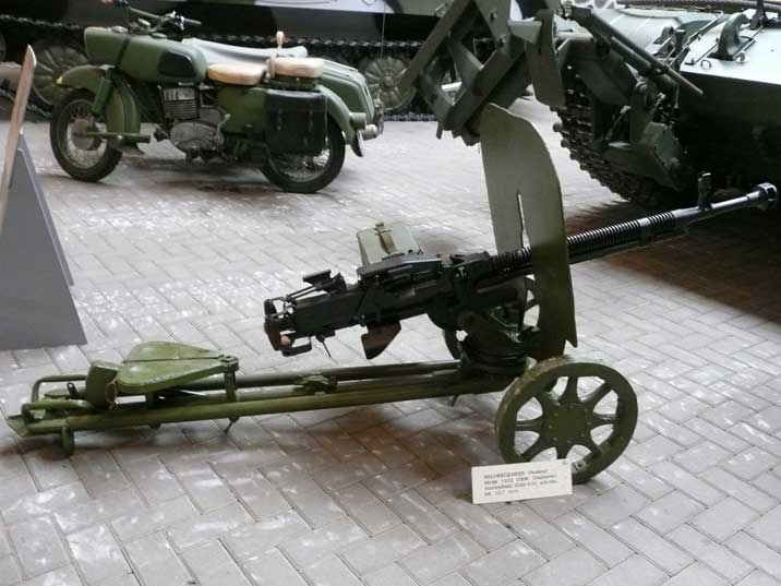 Soviet DSHK-38 machine gun model 1933 used in World War II