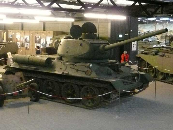 The famous Soviet T-34/85 in Liberty park War museum in Overloon
