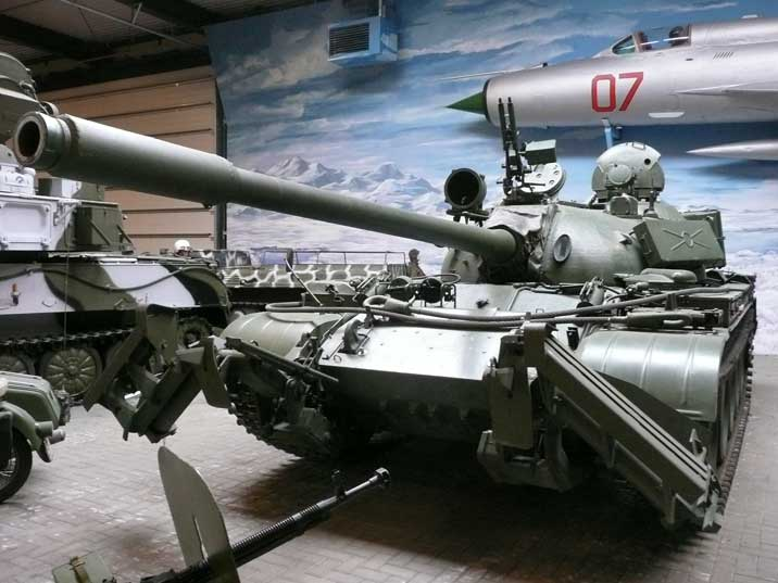 Russian T-55 Main Battle Tank with special anti mine equipment