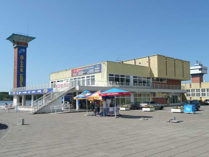 Klaipeda ferry terminal where ferry's sail regularly to the Split