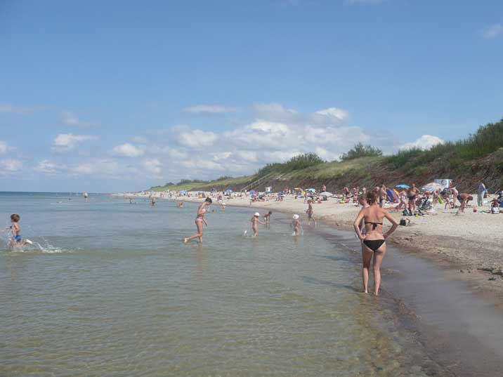 The Nida beach on the Baltic Sea side of the Curonian split