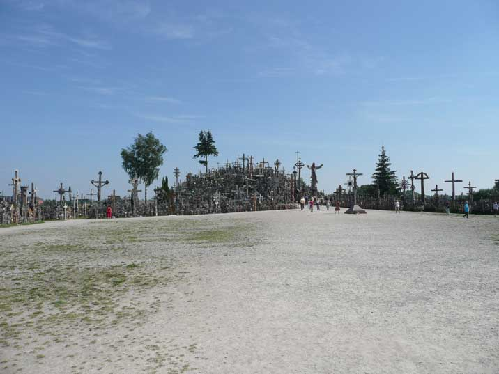 The Hill of Crosses with many hundreds of thousands of crosses