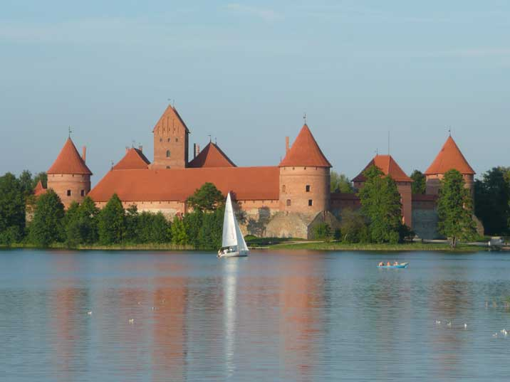 Trakai Island Castle dating back to the early 14th century
