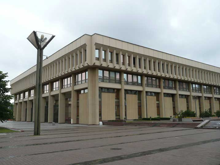 The former building of the Supreme Council of the Lithuanian SRR
