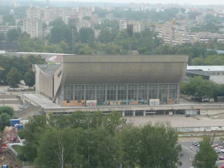 The Palace of Concerts and Sports in the Zirmunai area of Vilnius