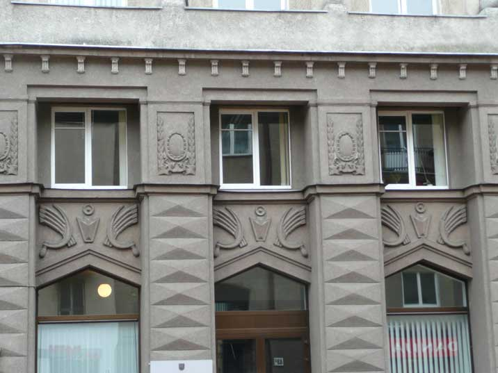 Rare Soviet time hammer and sickle as building decoration