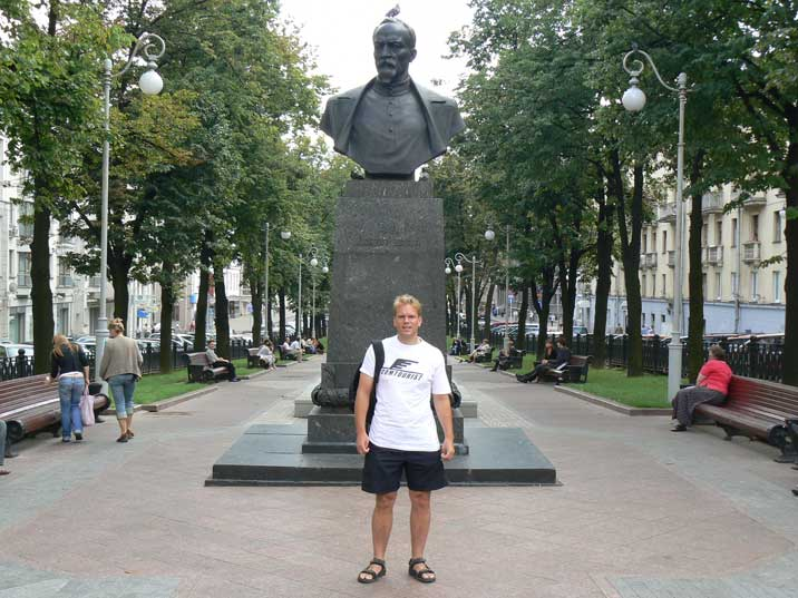 Felix Dzerzhinsky bust near the Belarus KGB headquarters