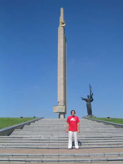 The Minsk Hero City Obelisk were military paraded are held